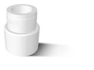Муфта полипропиленовая редукционная FIRAT, белая, арт.7B22075050  75х50