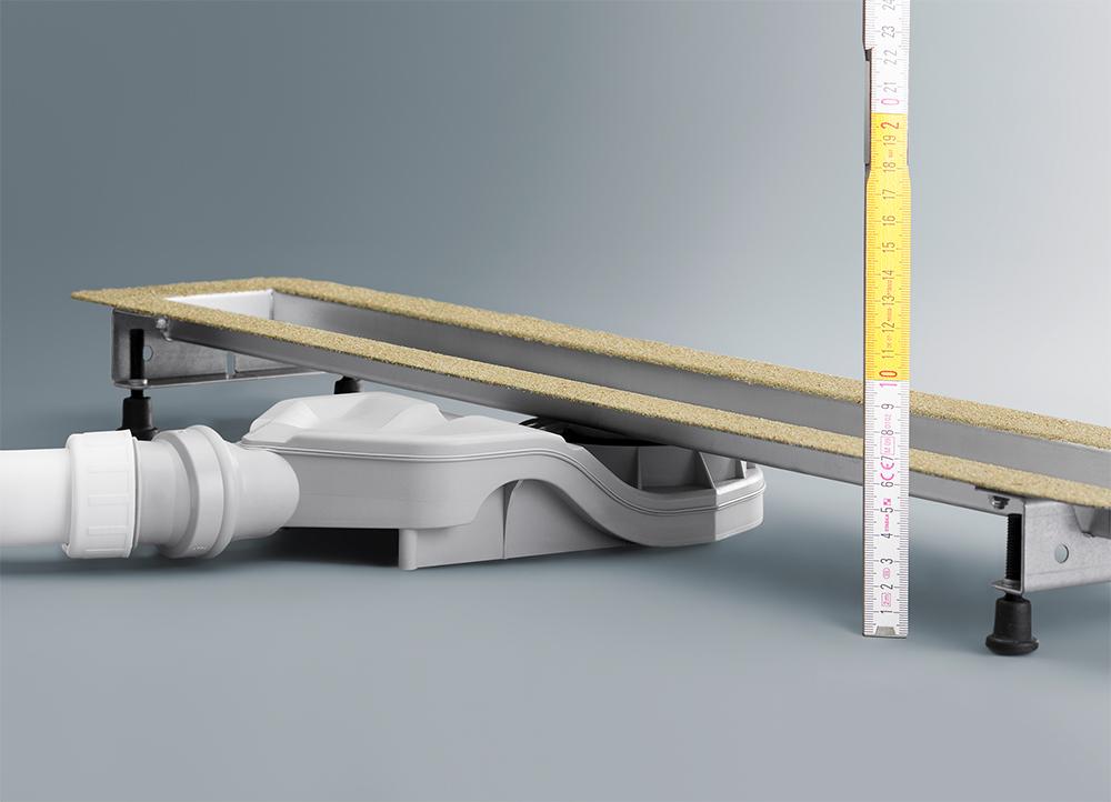 Душевой лоток Advantix Basic Viega 687618, плоский 67мм, нержавеющая сталь  1200мм