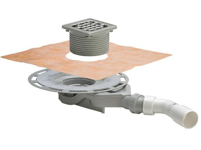 Трап для ванной комнаты Advantix 100*100, плоская модель (62 мм), VIEGA, арт.4980.60  40/50