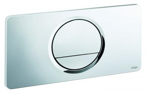 Кнопка смыва Visign for Style 13 Viega 654504, пластиковая, хромированная  271х140