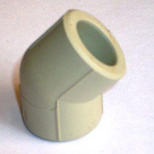 Угол 45° полипропиленовый, серый, FIRAT, арт.7711001020 PN25  20мм.