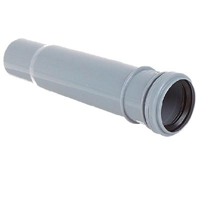 Патрубок компенсационный, ПВХ, серый,  канализационный  50 мм