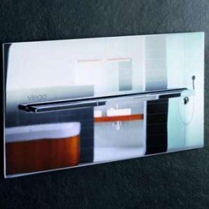 Кнопка смыва Visign for More 104, механическая Viega 598457, металл, хромированная  271х140