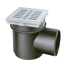 Трап подвальный 150х150 Kellermeister, с защитой от запаха, с горизонтальным  отводом, VIEGA, арт.290832  100мм