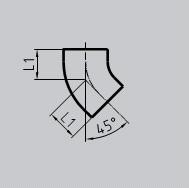 Отвод SML 45°, чугунный, АНВ, арт.011012545  125 мм