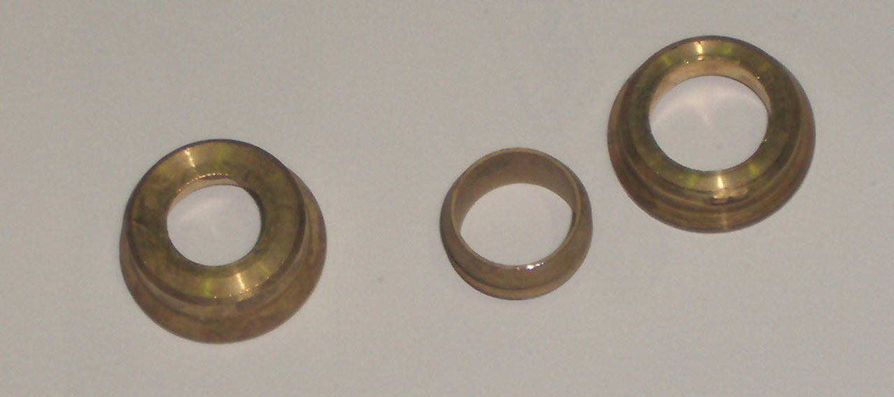 Адаптер по пайку, компрессионный, латунь, IMI, арт.948  15х10