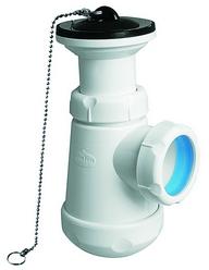 """Сифон бутылочный короткий с расширением, для биде, горизонтальный выход, пластиковый, JIMTEN, арт.S-84  1 ¼""""х 63"""