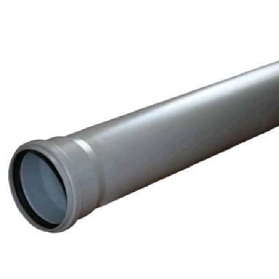 Труба ПВх серая, канализационная   50 х 1000мм