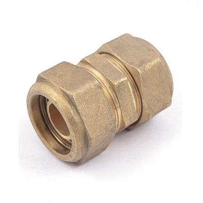 Муфта компрессионная, латунная, для медных труб, General Fitting, арт.3300.32  20 х 2,8мм.