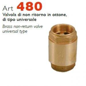 RASTELLI серия 480 обратные клапаны, с пластиковым затвором