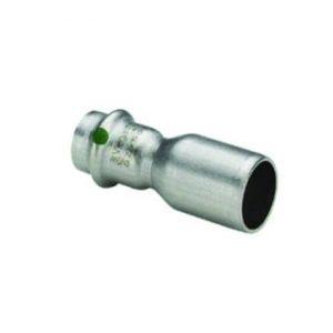 Муфта-вставка с SC-contur Sanpress Inox, VIEGA 2315.1, редукционная, нержавеющая сталь  28х22