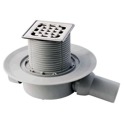 Трап с защитой от запаха Advantix 100*100, для ванной комнаты, регулируемый по высоте, нежавеющая сталь/пластик, VIEGA, арт.4936.2  50мм