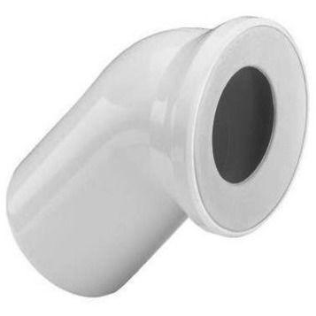 Отвод 45° для подключения унитаза VIEGA 101718, пластик  110 х 135