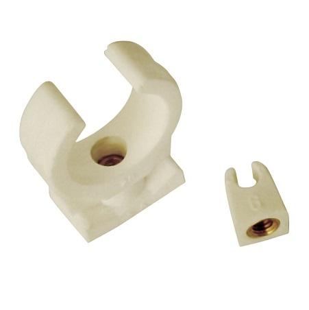 Клипса  для медных труб, пластиковая, SANHA, арт.9826c   6 мм