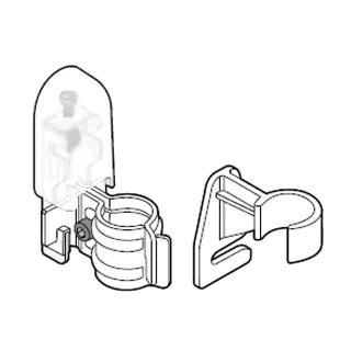 Комплект кронштейнов 2-GBT, для трубчатых радиаторов DeLonghi, белый