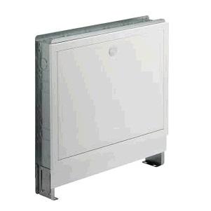 Шкаф Fonterra VIEGA 1294, для коллектора, встраиваемый, регулируемый по высоте, сталь оцинкованная, белый  460х445х490