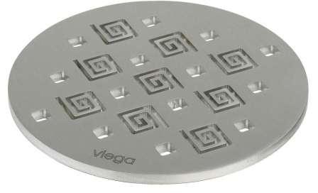 Решетка декоративная  RS11 VIEGA 586423, нержавеющая сталь, круглая, толщина 5мм   Ø 110