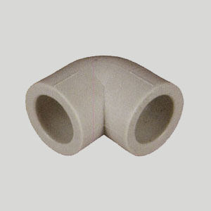 Угол 90° полипропиленовый, серый, FIRAT, арт.7711000075 PN25  75мм.