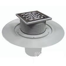 Трап с защитой от запаха Advantix 150*150, для ванной комнаты, с вертикальным отводом, регулируемый по высоте, VIEGA, арт.4951.1  70/100