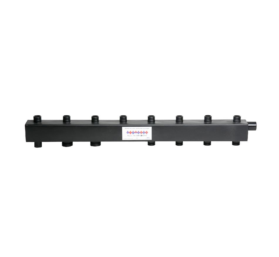 Коллектор для котельной обвязки, распределительный   КК-25М/125/40/4+3 контура