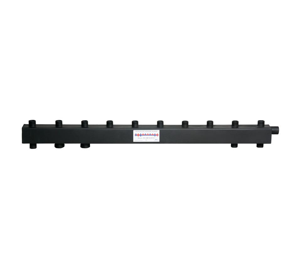 Коллектор для котельной обвязки, распределительный   КК-25М/125/40/6+1 контуров
