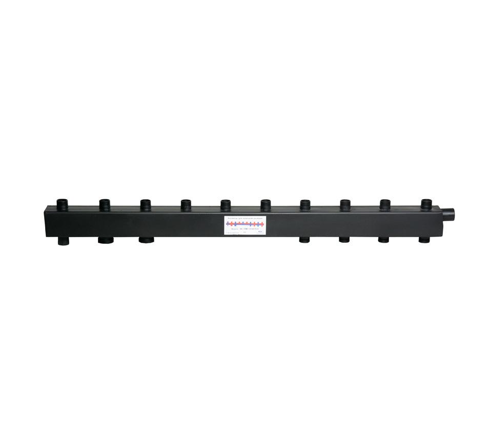 Коллектор для котельной обвязки, распределительный   КК-25М/125/40/6+2 контуров