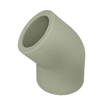 Угол 45° полипропиленовый, серый, HAKAN, арт.4301102000121 PN20  20мм.