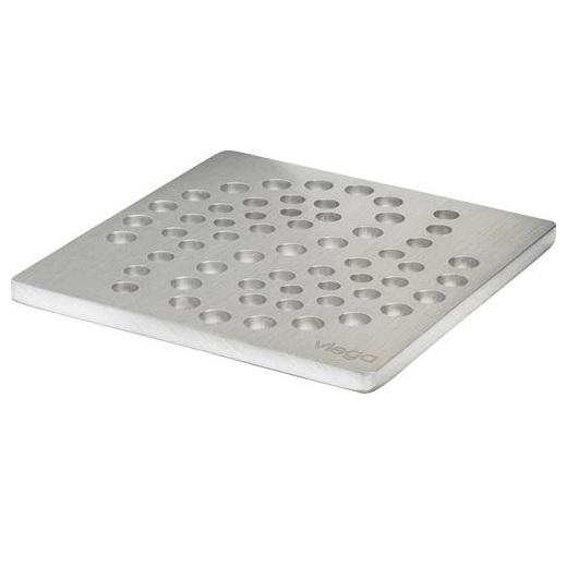 Решетка декоративная  RS4 VIEGA 492311 нержавеющая сталь, толщина 5мм   100х100
