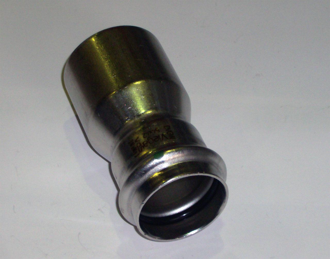 Муфта-вставка с SC-contur Sanpress Inox, VIEGA 2315.1, редукционная, нержавеющая сталь  54х42