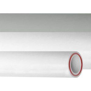 Труба полипропиленовая RUBIS армированная стекловолокном, SDR 7.4, белая, PN20, Pro-AQUA, арт.РА35010Р  25