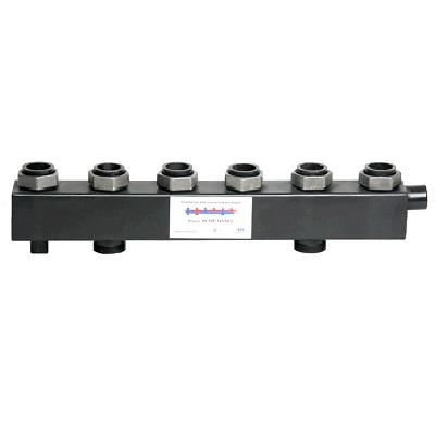 Коллектор для котельной обвязки, распределительный   КК-50F/125/50/ 5+2 контуров