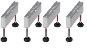 Опора монтажная для душевого лотка (более 1000мм) Viega 619114, нержавеющая сталь (комплект 4 шт.)