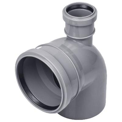 Тройник  90°, для внутренней канализации  100/50мм
