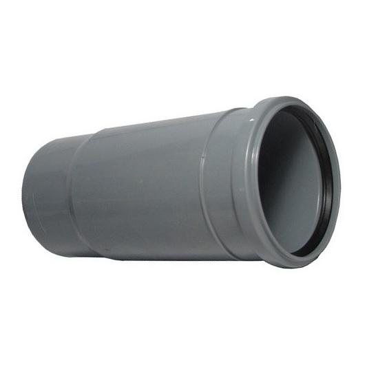 Патрубок компенсационный, ПВХ, серый,  канализационный  100 мм