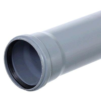 Труба ПВх серая, канализационная   110 х 2000мм