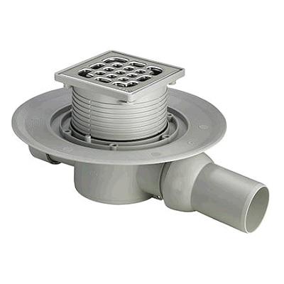Трап с защитой от запаха Advantix 100*100, для ванной комнаты, регулируемый по высоте, VIEGA, арт.4935.1   50мм
