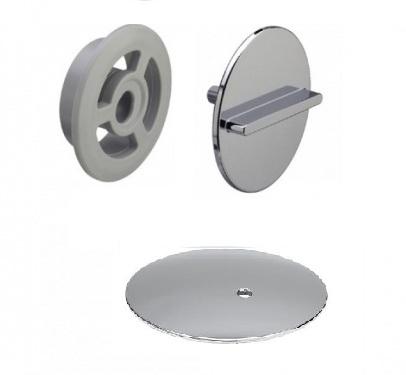 Комплект накладок Rotaplex Visign R3  Viega 586508, металл, хромированная (верхняя/нижняя)