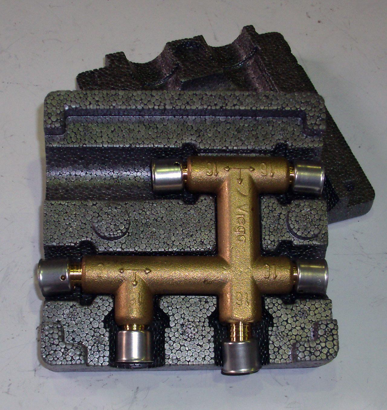 Монтажный узел Pexfit, VIEGA 2749, бронзовый,  16 мм