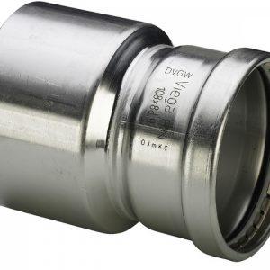 Муфта-вставка с SC-contur Sanpress Inox, VIEGA 2315.1XL, редукционная, нержавеющая сталь  76,1х54