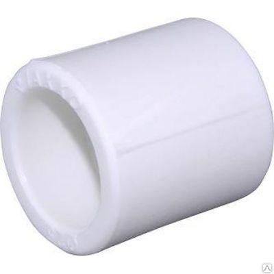 Муфта полипропиленовая HAKAN белая, ВР, арт.4300509020721  90мм