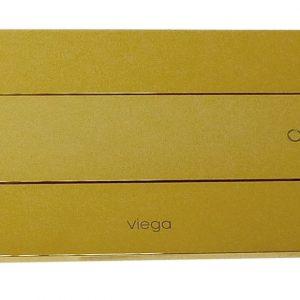 "Кнопка смыва Visign for Style 12 Viega 597320, пластиковая, цвет""золото""   271х140"