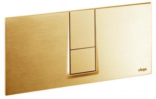 "Кнопка смыва Visign for Style 14 Viega 654764, пластиковая, цвет""золото""   271х140"