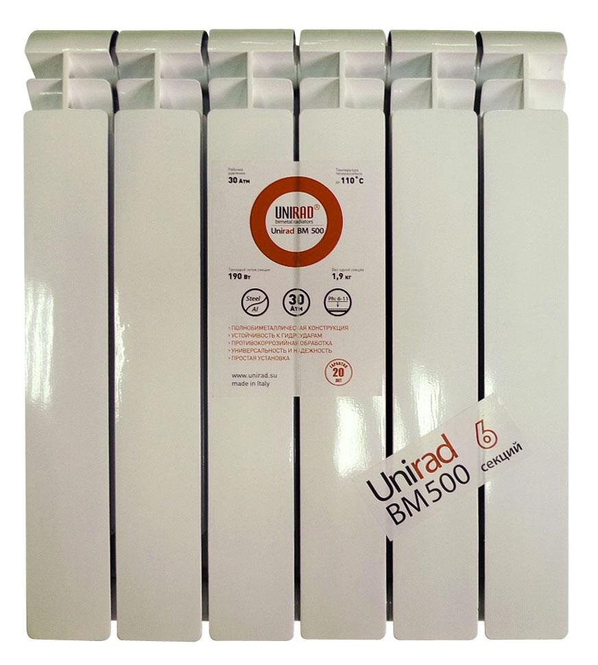 Радиатор биметаллический ALURAD Unirad CBM 500 / 7