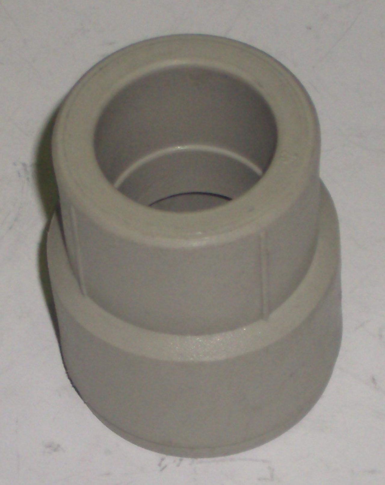 Муфта полипропиленовая редукционная FIRAT, серая, ВР, арт.7722040025  40х25