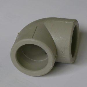 Угол 90° полипропиленовый, серый, FIRAT, арт.7711000025 PN25  25мм.
