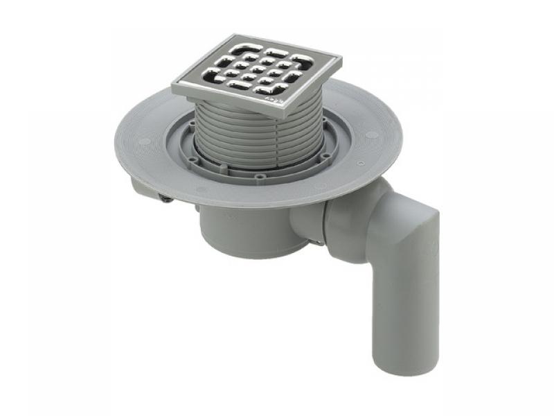 Трап с защитой от запаха Advantix 100*100, для ванной комнаты, регулируемый по высоте, вертикальный слив, VIEGA, арт.4935.3   50мм