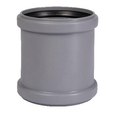 Муфта, ПВХ, серая,  канализационная  100 мм