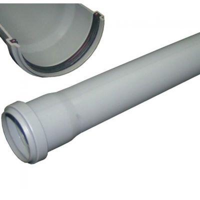 Труба ПВх серая, канализационная, в комплекте с уплотнительным кольцом   50 х 2000мм