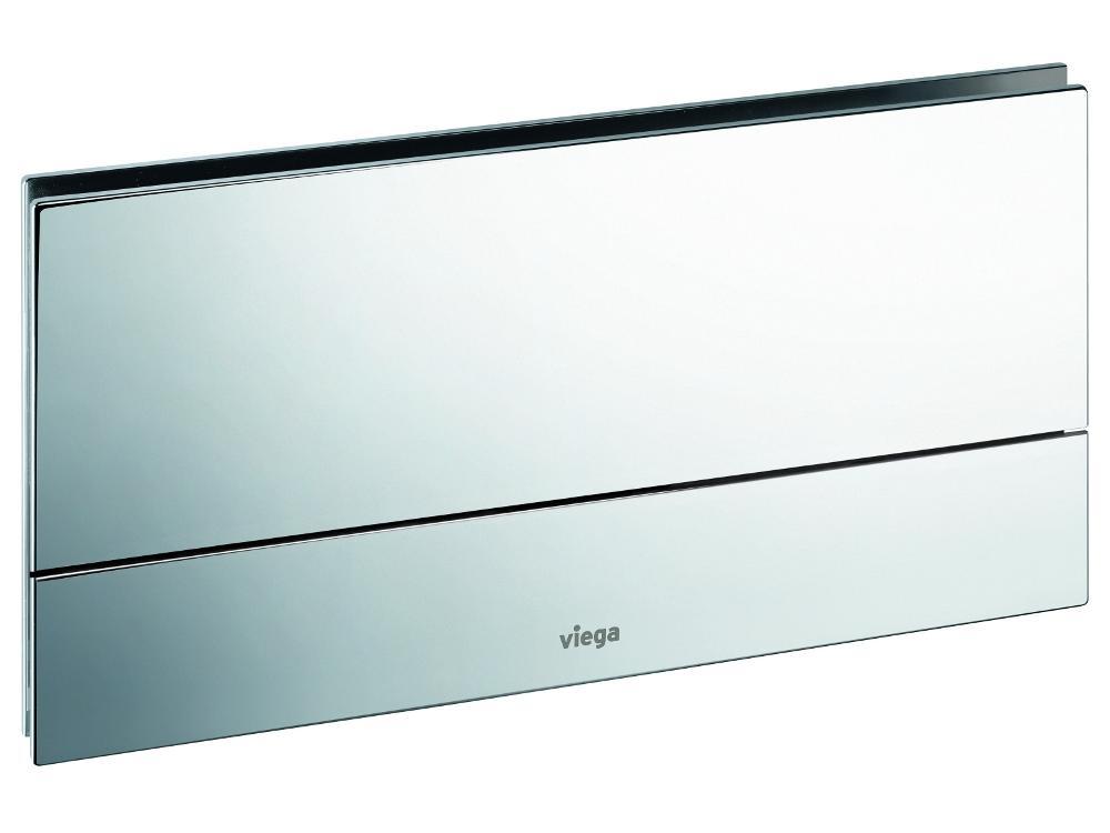 Кнопка смыва Visign for More 101 Viega 597368, металл, хромированная  271х140