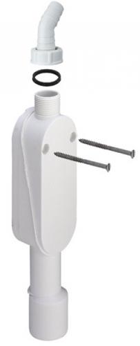 Сифон для скрытого монтажа, вертикальный, Viega 364687, пластиковый 40 мм